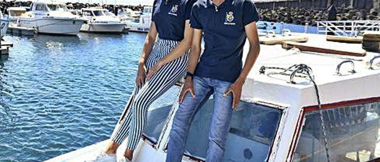 Paula Barrio y Joel Hernández, tripulantes del 29er, en el Muelle Deportivo de Las Palmas de Gran Canaria.