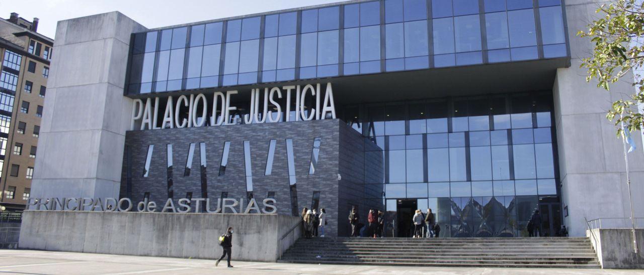 Fachada del Palacio de Justicia de Gijón, en una imagen de archivo.