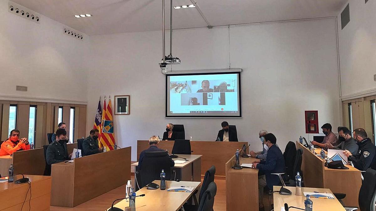 Un momento de la Junta de Seguridad de Formentera, celebrada ayer | CIF