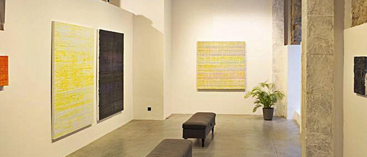 Vista de la exposición  de Jorge Quijano.