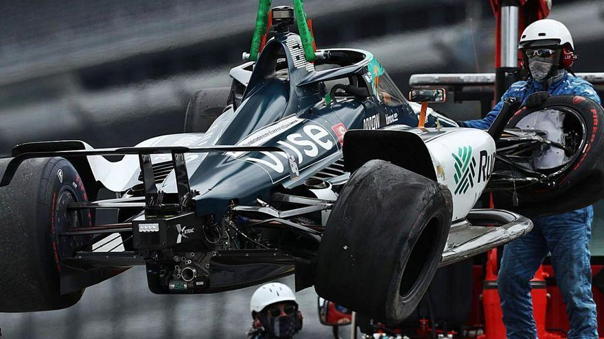 Accidente de Alonso en su ensayo para Indianápolis