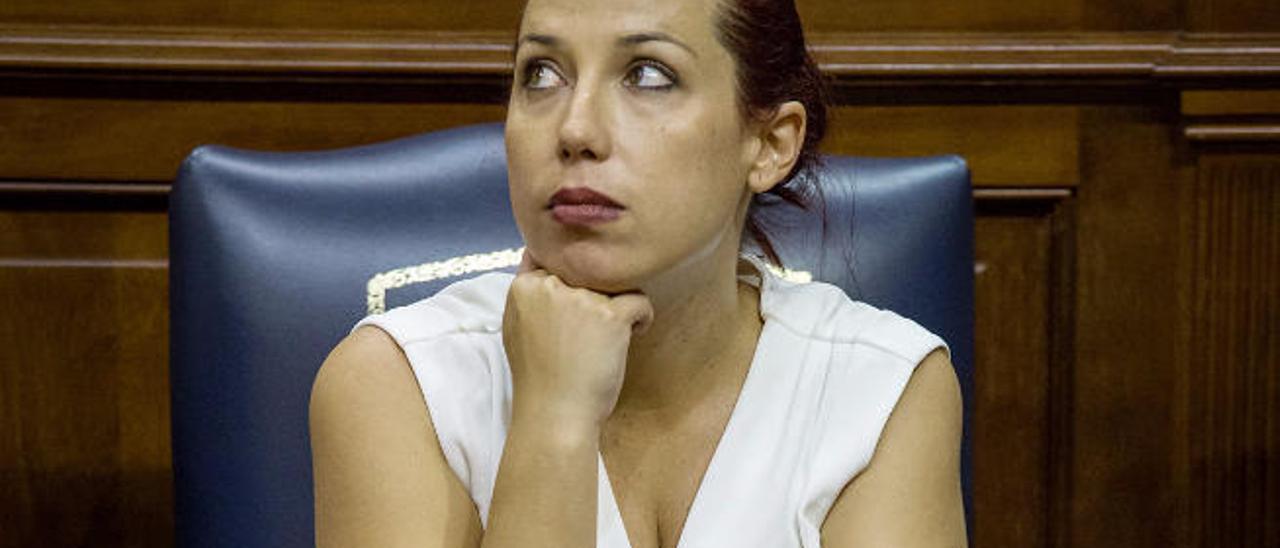 Patricia Hernández en el Parlamento, en su etapa como vicepresidenta.