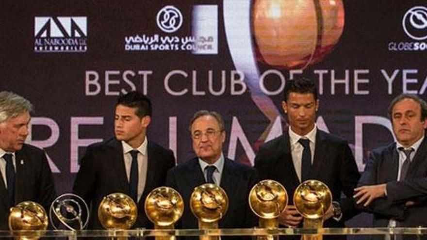 El Real Madrid copa los premios en los Globe Soccer Awards