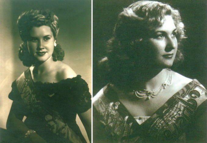 Solita Sabater Jover y Maruja Sabater Jover fueron Belleas del Foc en 1944 y 1953, respectivamente, en representación de distintos distritos.