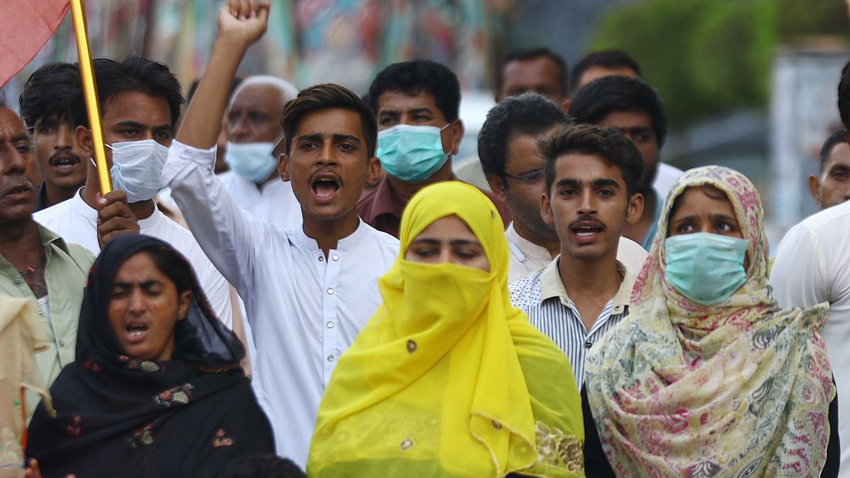 Protesta de refugiados en Kabul