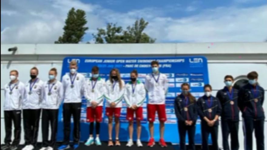 La nadadora ilicitana Ángela Martínez gana el bronce en el Europeo junior