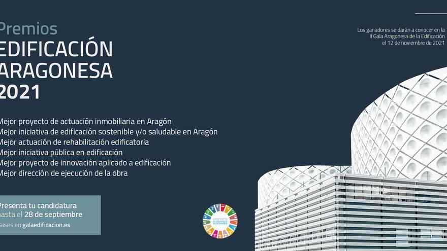 El 28 de septiembre finaliza el plazo para presentar las candidaturas a los Premios a la Edificación Aragonesa 2021