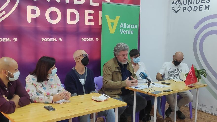 Unidas Podemos presenta en Alicante su nueva formación ecologista: Alianza Verde