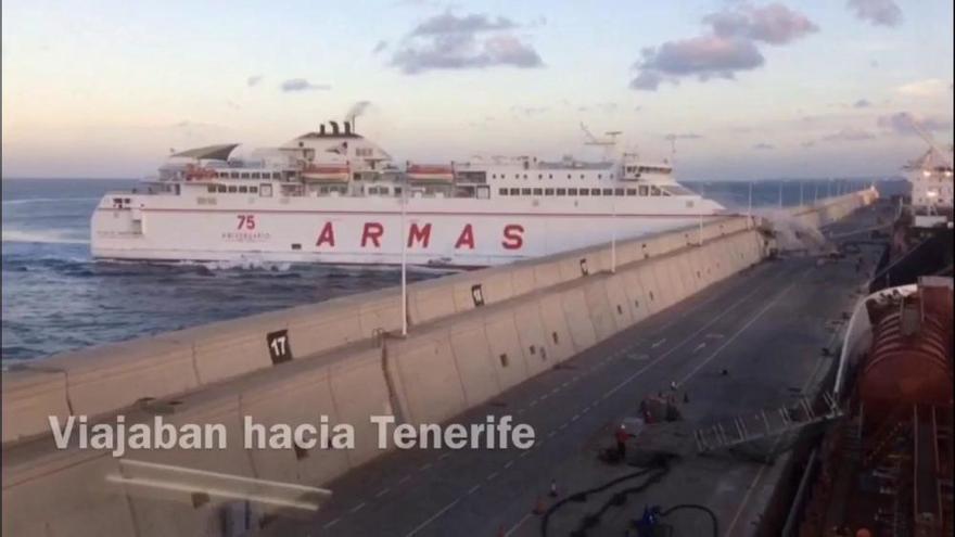 El 'Tamasite' llevaba tiempo con un motor de emergencia cuando chocó con La Esfinge