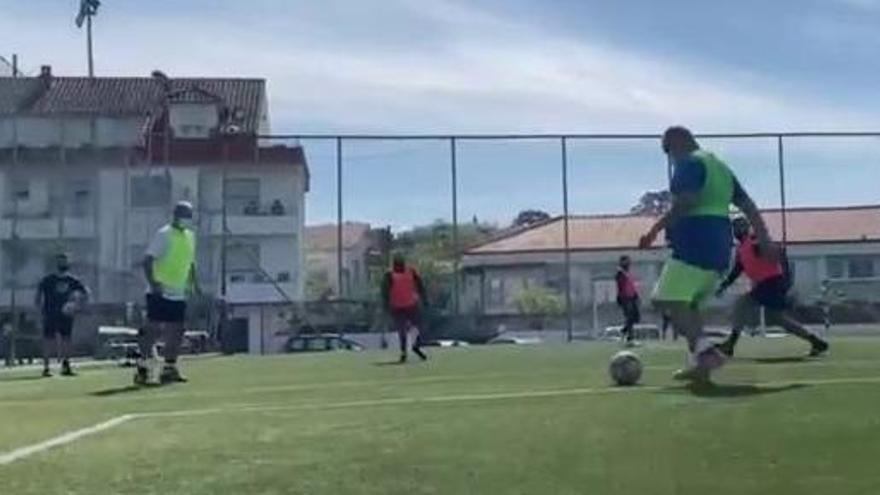 Primer torneo de fútbol a pie de Cangas