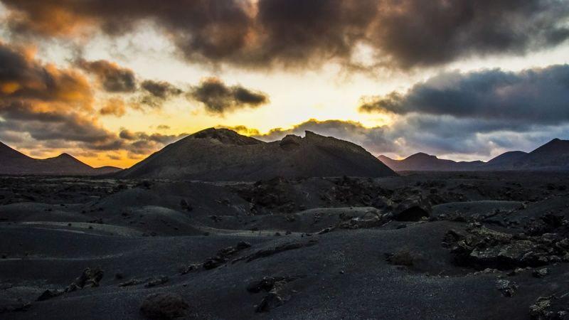 Volcanes en Lanzarote