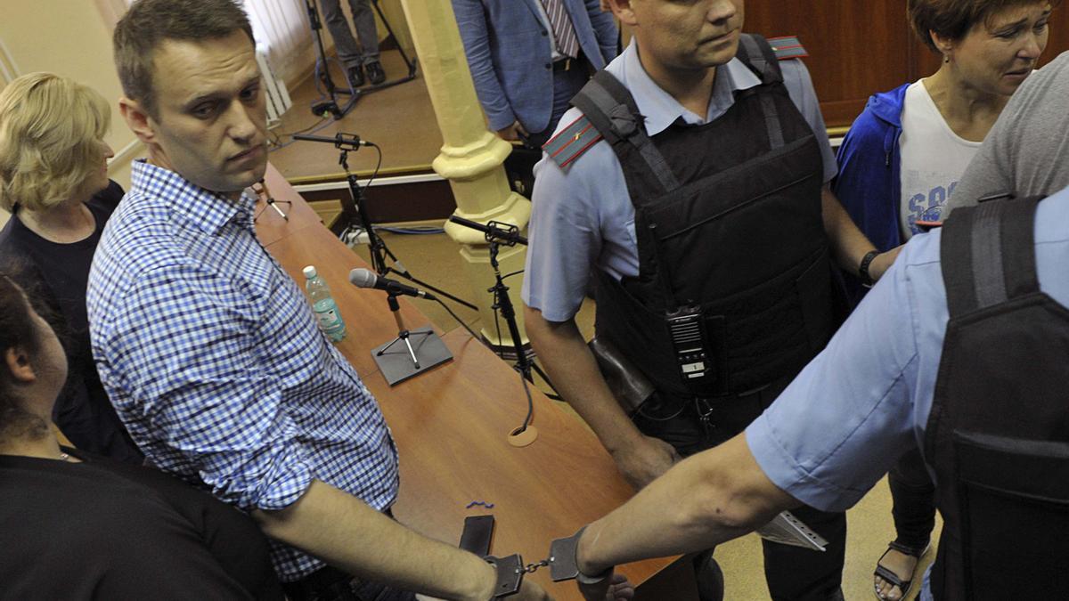 Navalni, durante su detención.