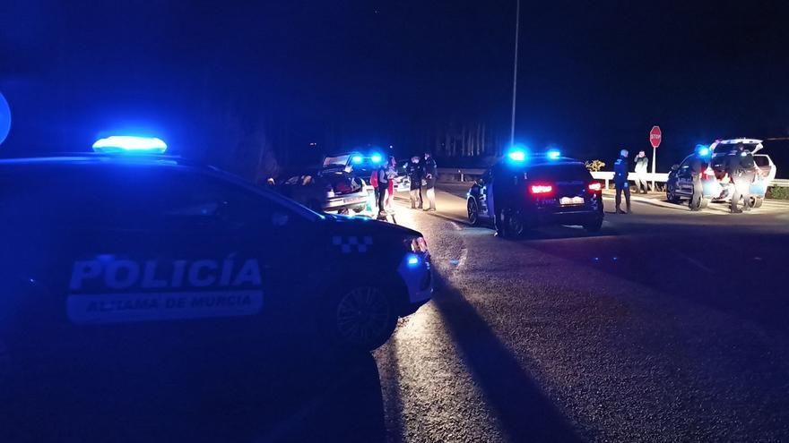 Se estrellan tras una persecución policial de Mazarrón a Alhama de Murcia