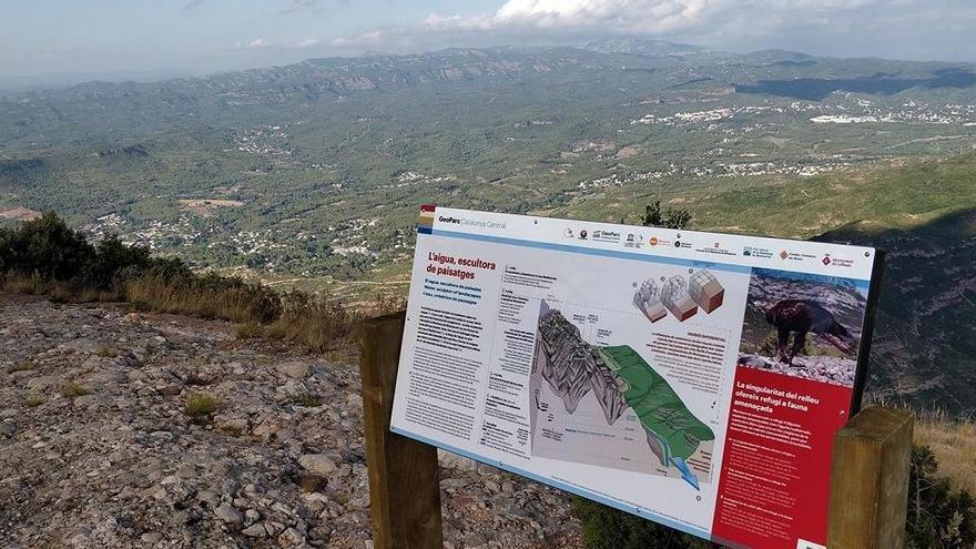 El Geoparc de la Catalunya Central instal·la panells explicatius a Montserrat