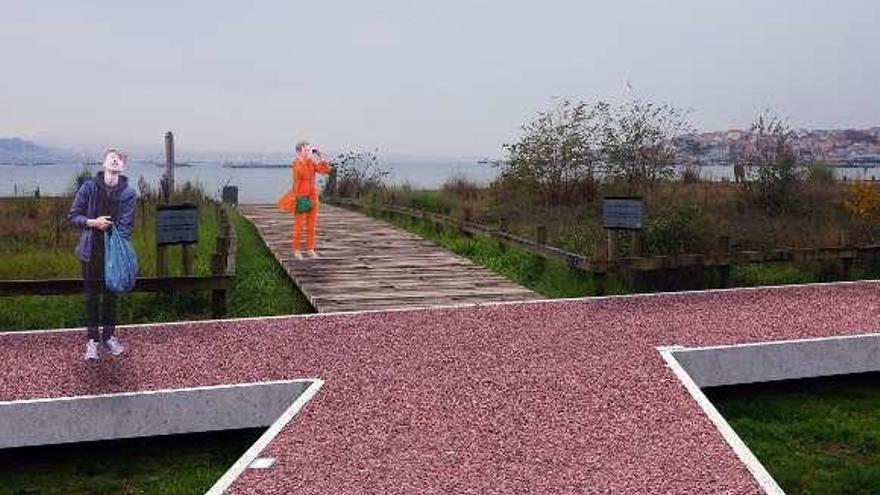330.000 euros y 5 meses de obra para renovar el Paseo da Xunqueira y ampliarlo a Samertolaméu
