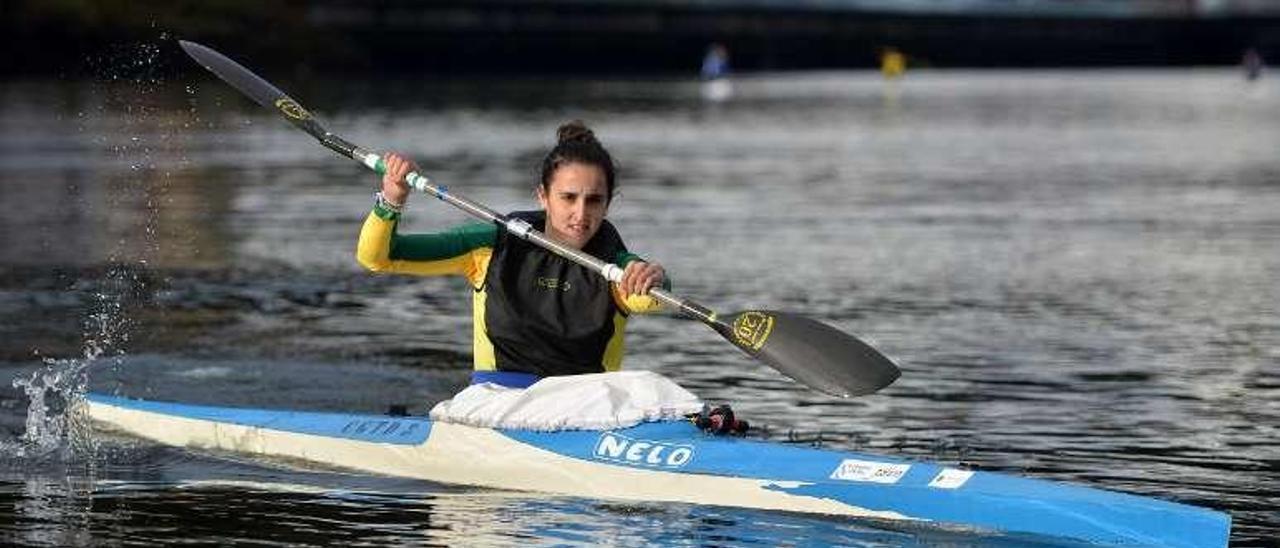 Marta Iglesias, ayer, en un entrenamiento . // Gustavo Santos
