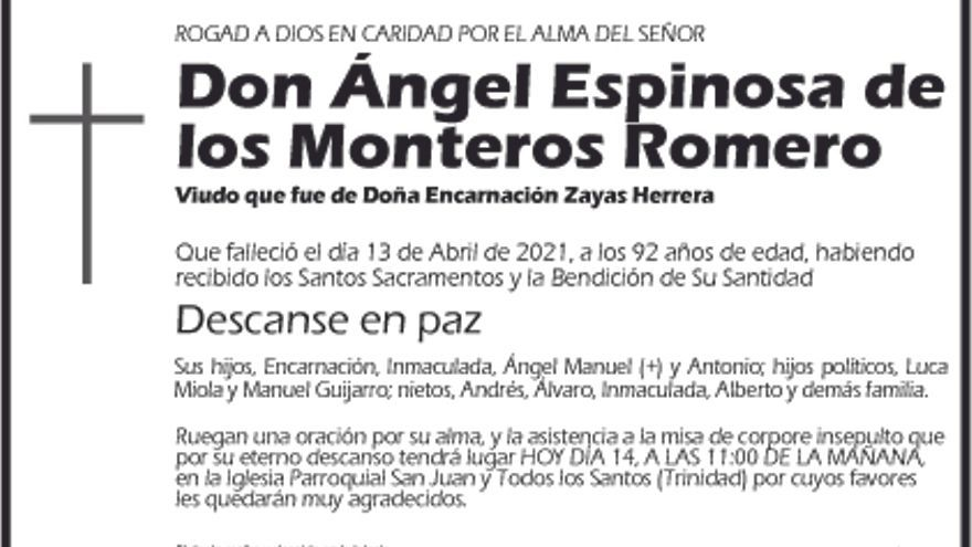 Ángel Espinosa de los Monteros Romero