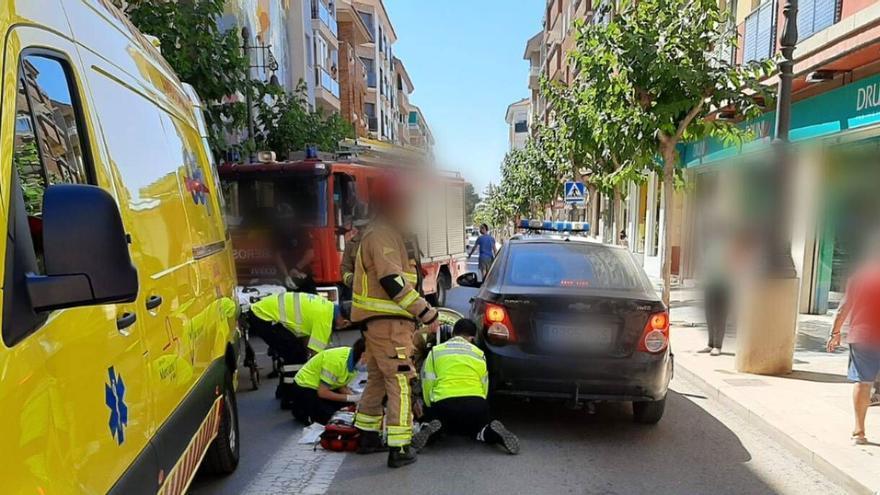 Rescatan a una mujer atropellada por un coche en Mazarrón