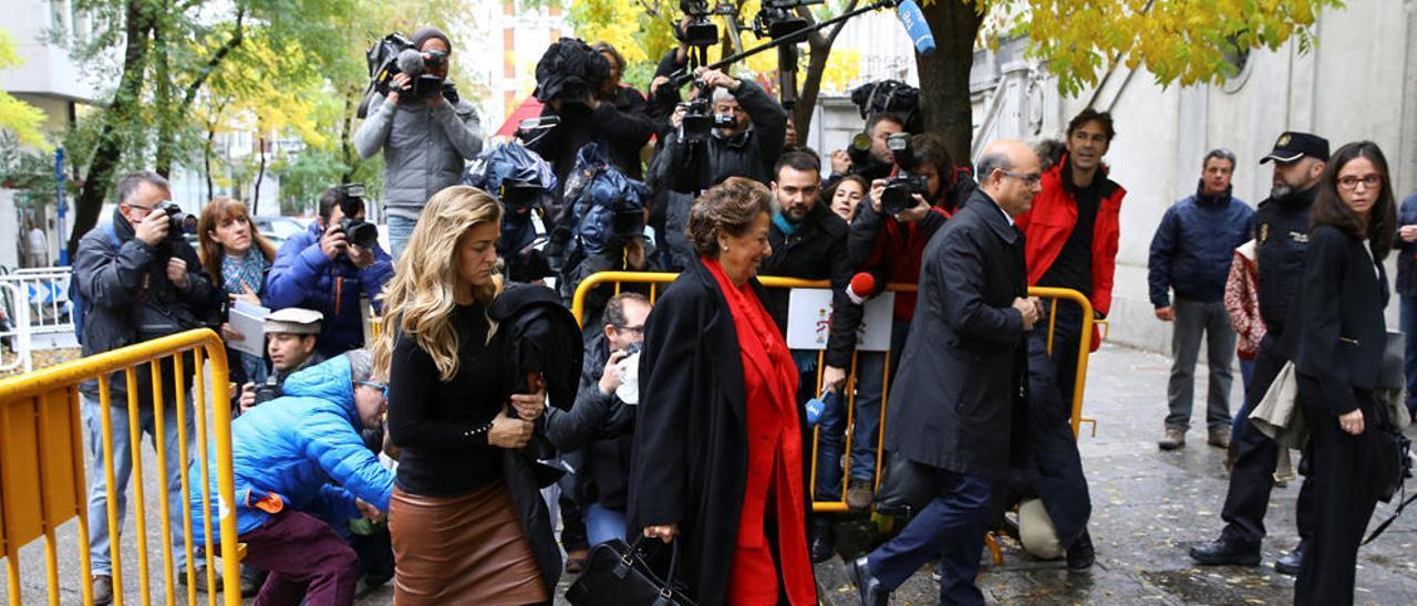 Rita Barberá en su última comparecencia  pública, el lunes ante el T. Supremo.