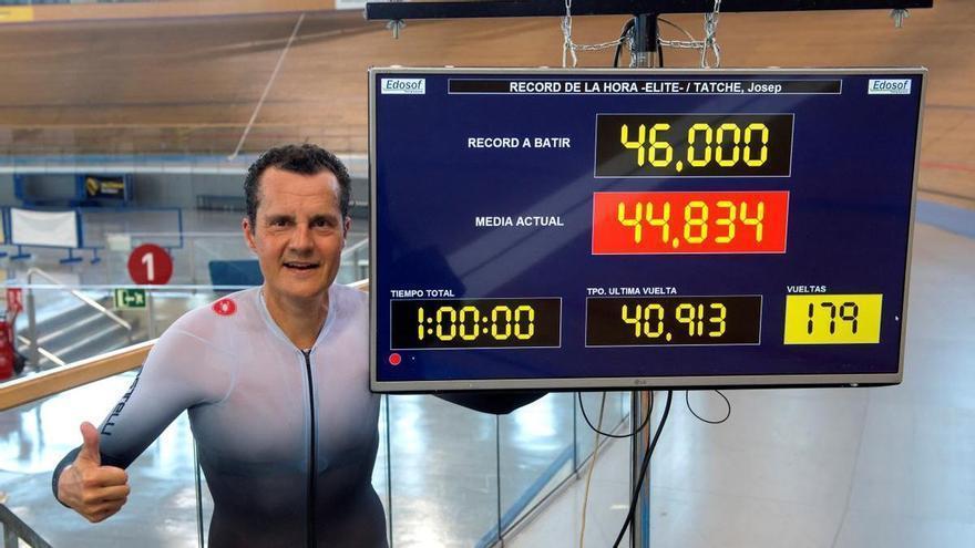 Un veterano de 47 años bate el récord de España de la hora