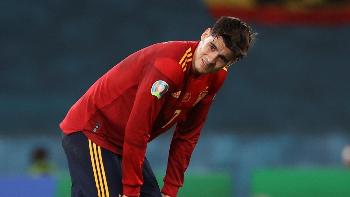 Álvaro Morata abrió el marcador ante Polonia.