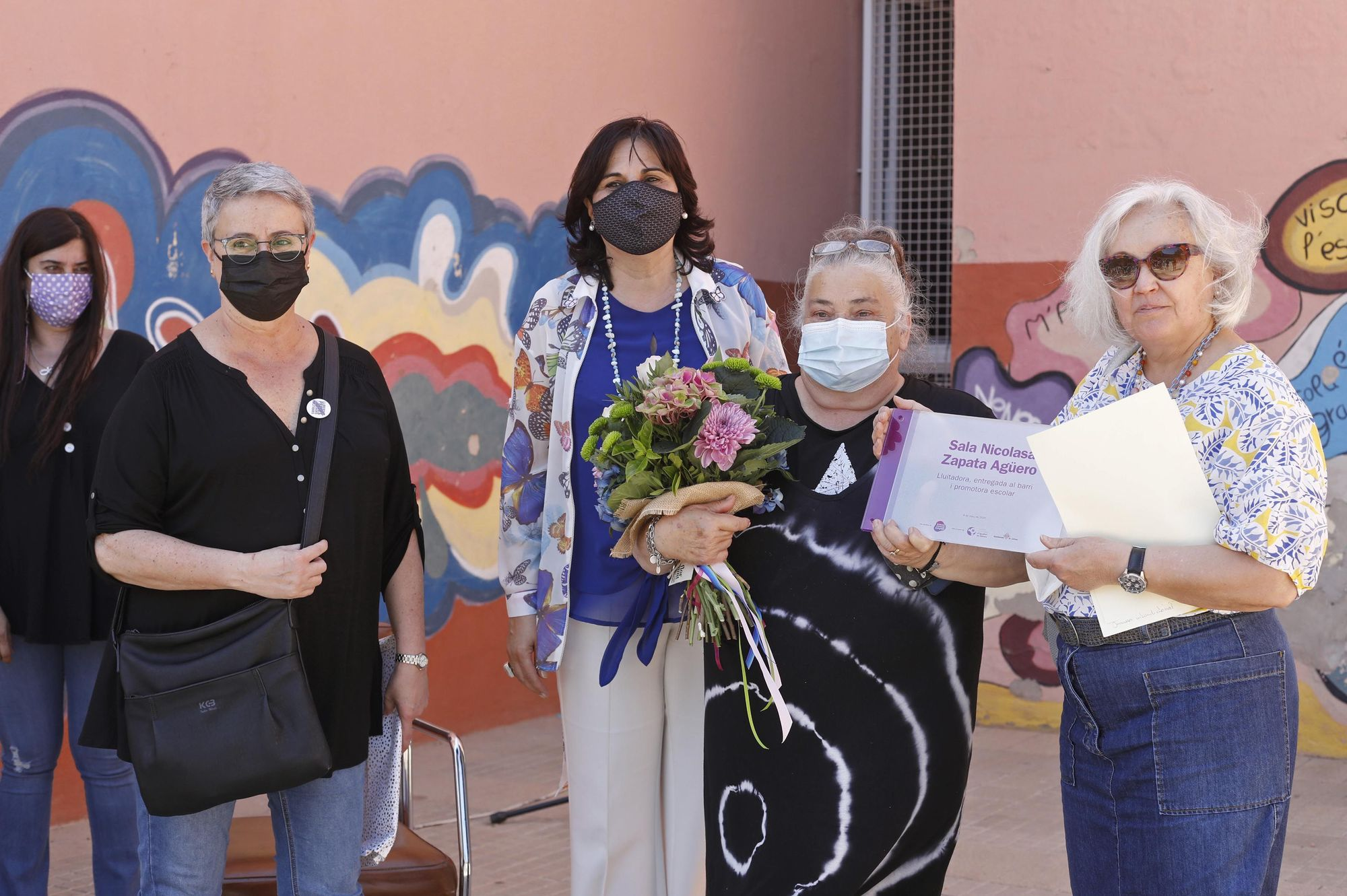 Homenatge a Nicolasa Zapata per la seva tasca educativa a la Font de la Pólvora