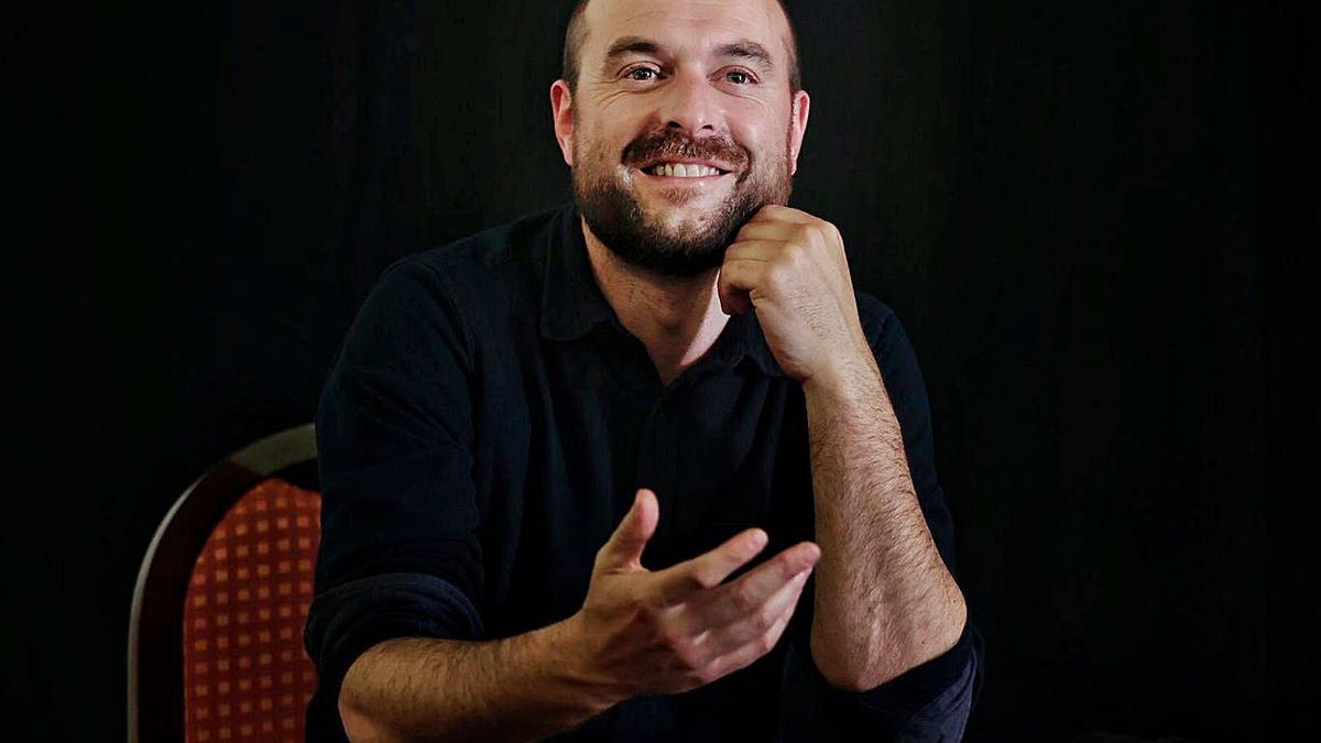 Alberto Vázquez, autor de 'Homeless Home', ayer en el Teatro Leal. | | MARÍA PISACA