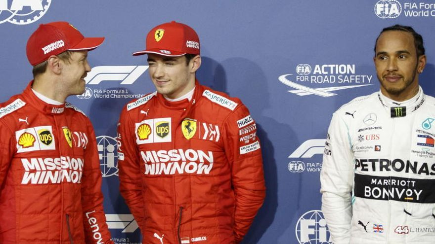 Leclerc estrena su primera 'pole' en Baréin