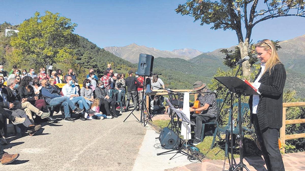 Durante el acto de homenaje celebrado este lunes en Montanuy se han interpretado varias de las canciones del líder de Jarabe de Palo.