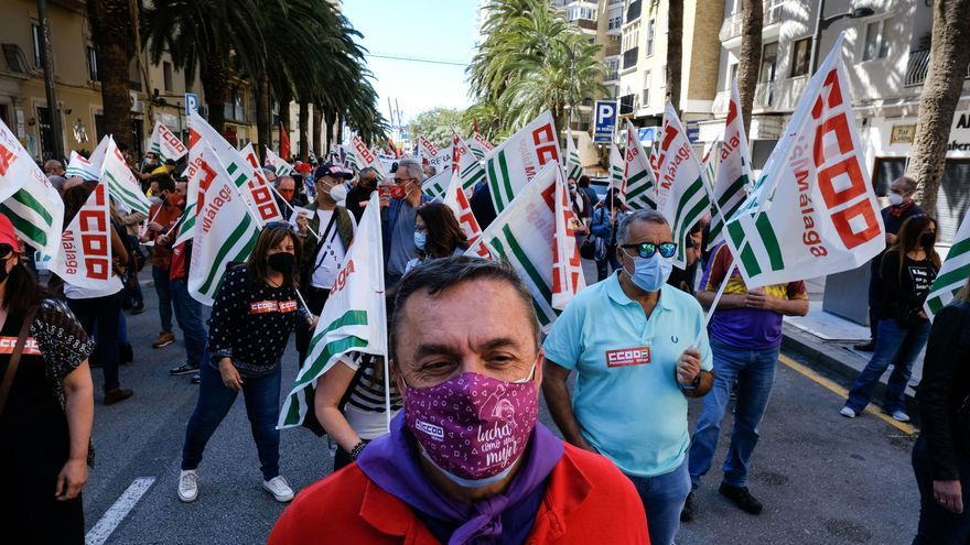 Manifestación del Primero de Mayo en Málaga capital