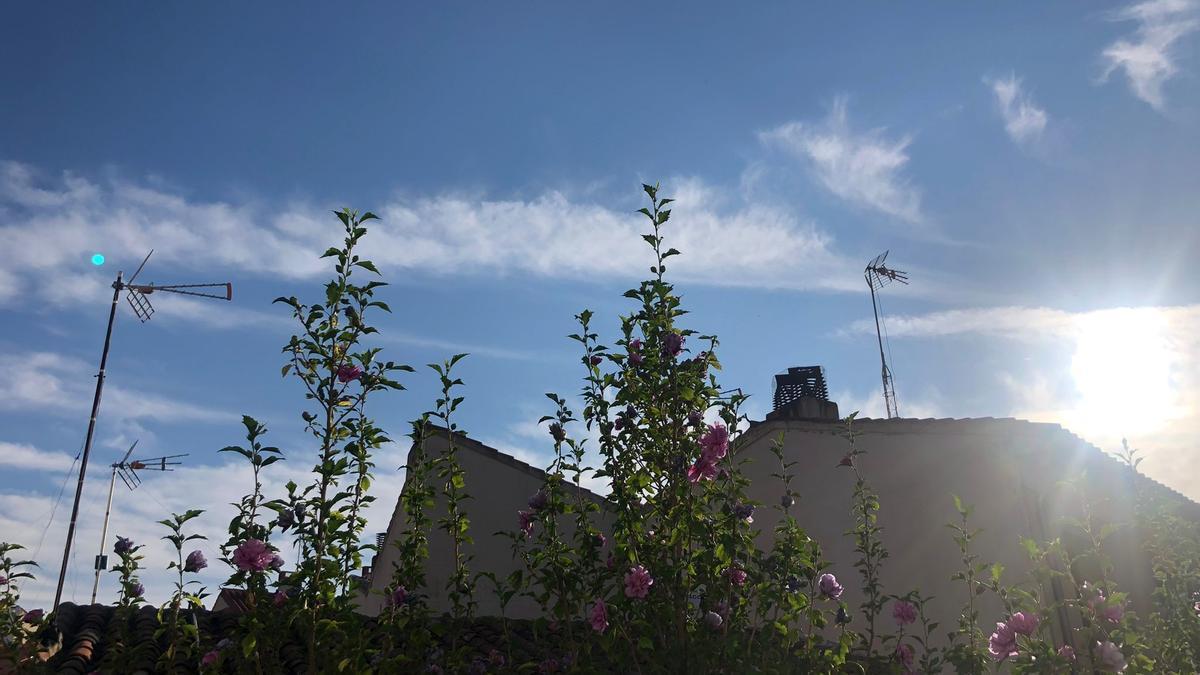 Cielo a primera hora de esta mañana en Zamora.
