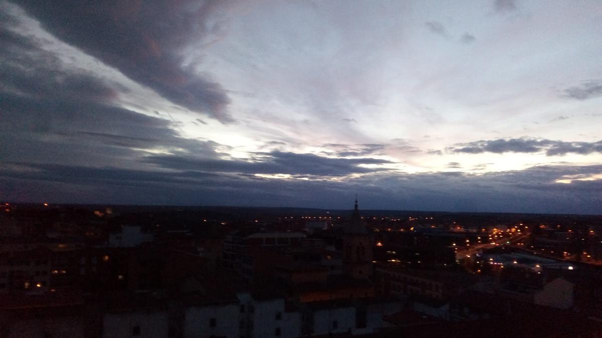 El cielo de Zamora capital.