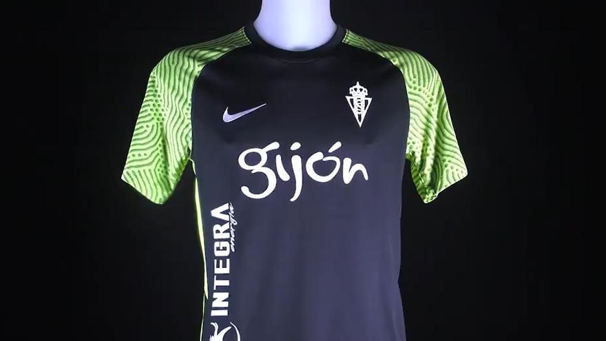 Así es la nueva (y rompedora) segunda camiseta del Sporting de Gijón