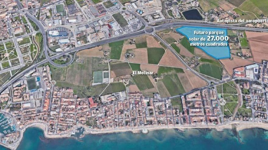 Pläne für Solarpark zwischen Molinar und Flughafen-Autobahn
