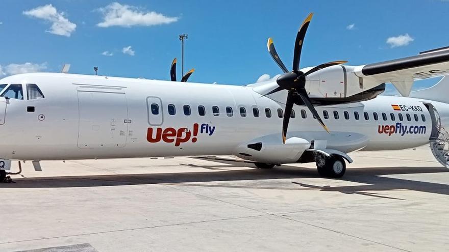 La nueva aerolínea interislas Uep! Fly lanzará una tarifa promocional de 9,50 euros