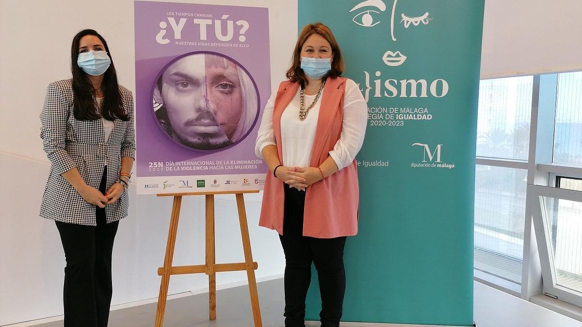 Natacha Rivas y Lourdes Piña, en la presentación de la campaña.