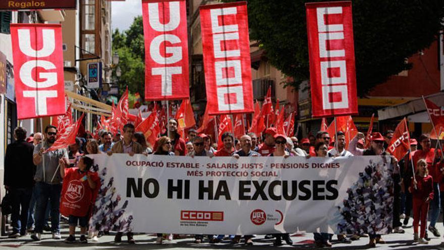 Mehr als tausend Teilnehmer bei Mai-Kundgebung auf Mallorca