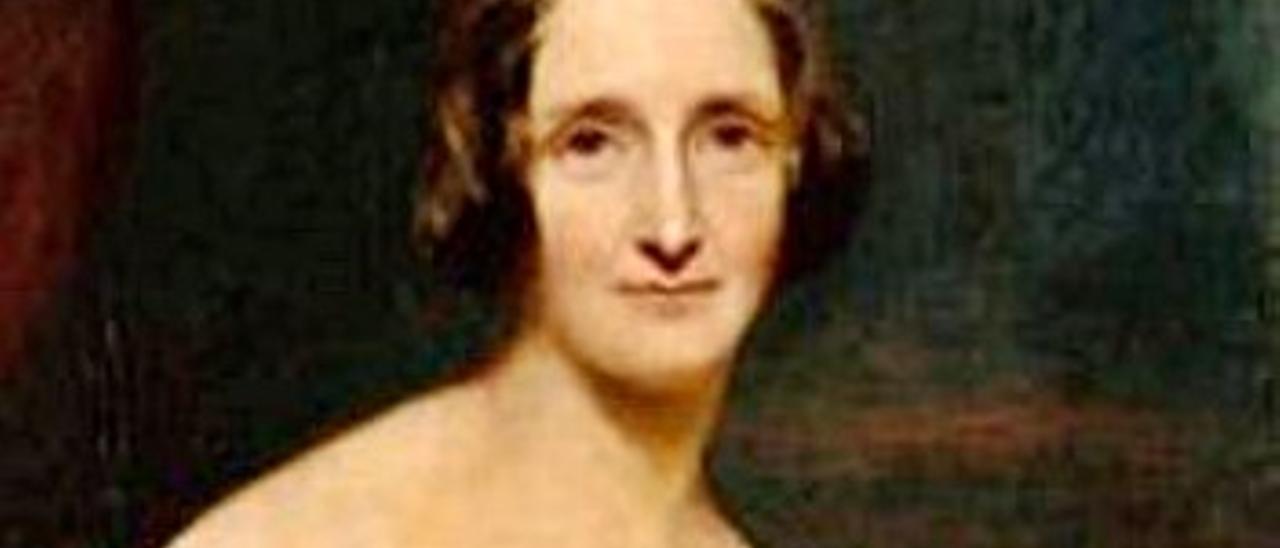 Mary Shelley, retratada por Richard Rothwell.