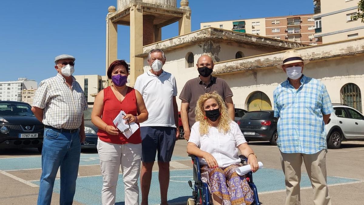Adelante promueve la protección de un antiguo depósito de agua de Málaga ante la amenaza de demolición