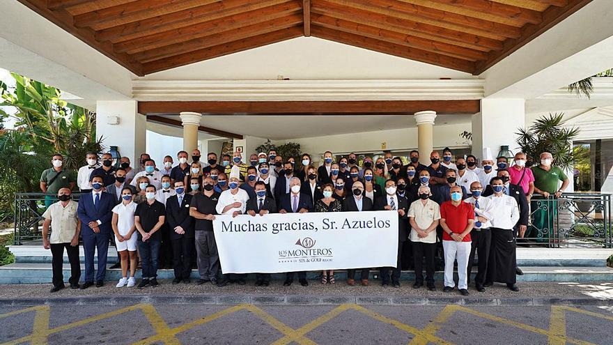 Los trabajadores del Hotel Los Monteros dan su último adiós a Judas Azuelos