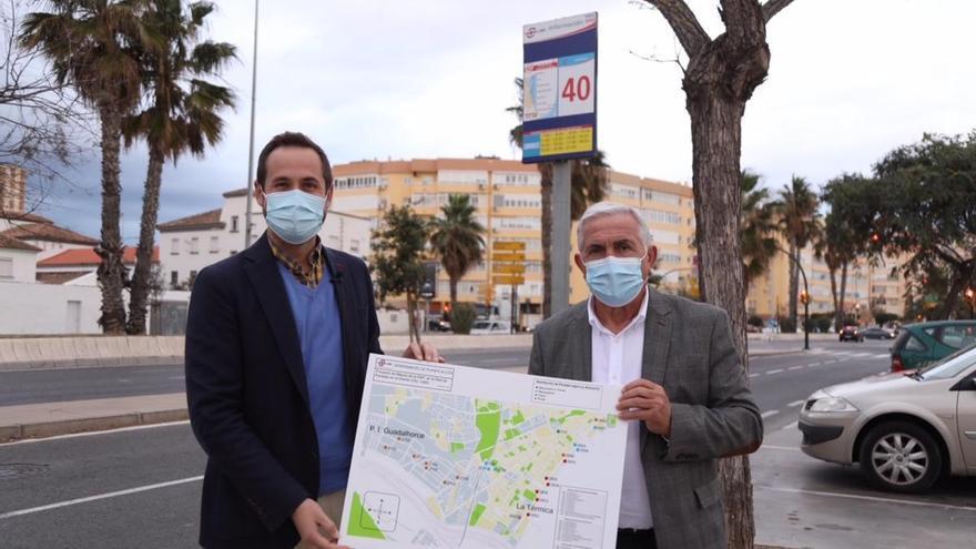 La EMT inicia en Carretera de Cádiz la renovación de marquesinas, postes y paneles