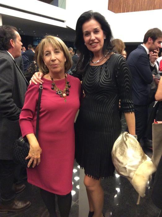 Maria Rosa Mirasierra, periodista y María López, presidenta de la Fundación Jorge Alió