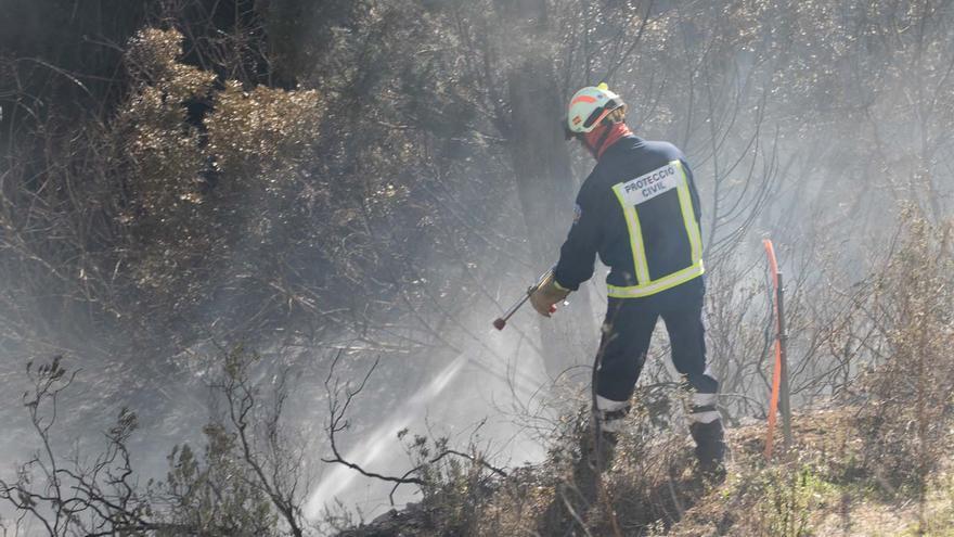 Alarma por un nuevo incendio en un torrente de Ibiza
