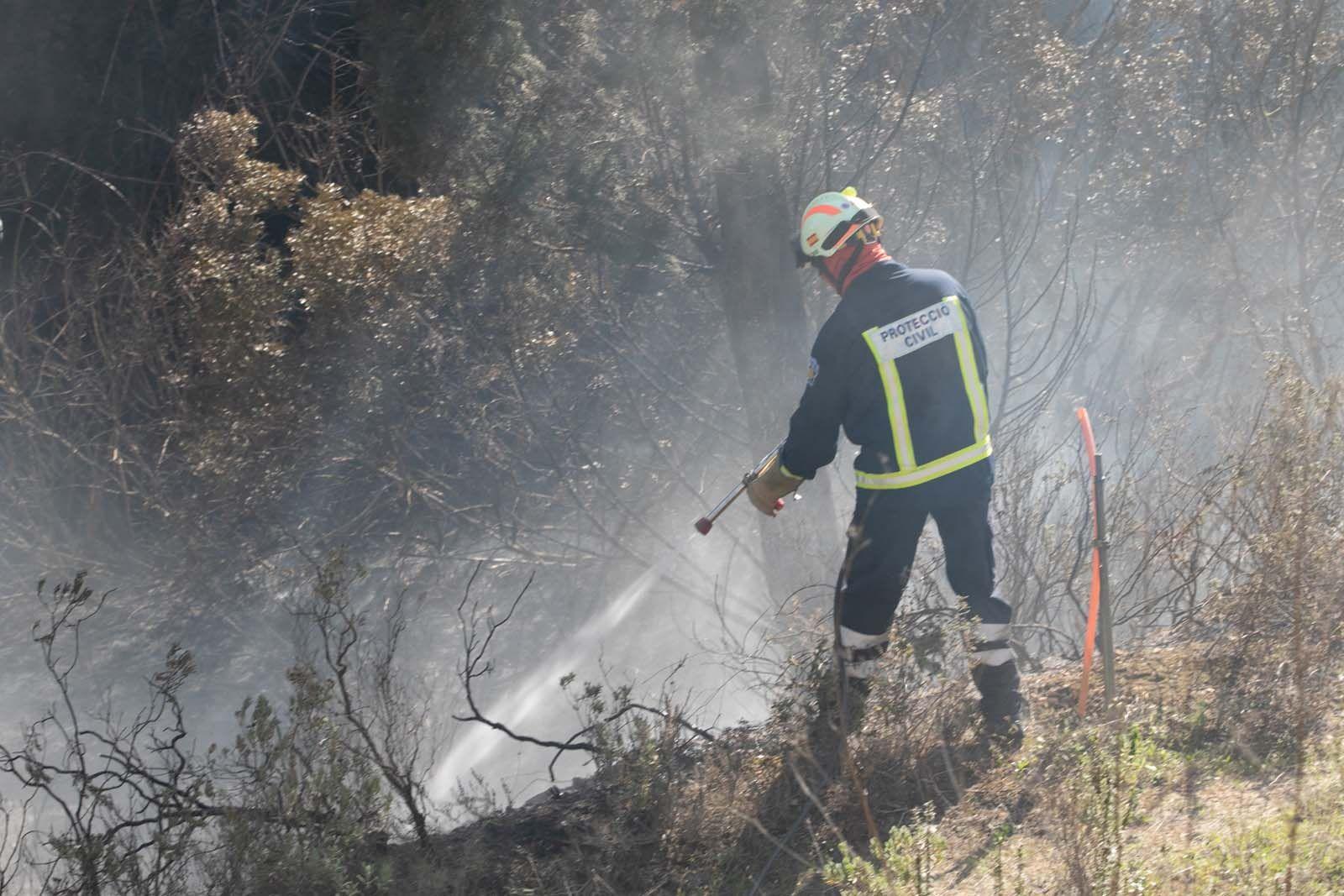 Alarma por un incendio en un torrente de Ibiza