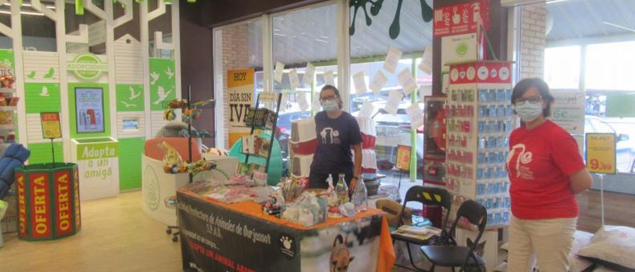 La SPAB en una acción solidaria reciente en una tienda. | VICENT RUIZ