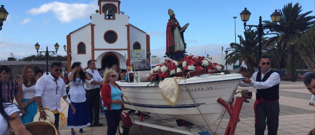 Imagen de la romería de San Fermín, el sábado en Caserío de Gando.