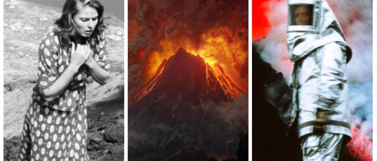 Imágenes de 'Stromboli', 'El señor de los anillos' y 'Dentro del volcán'.