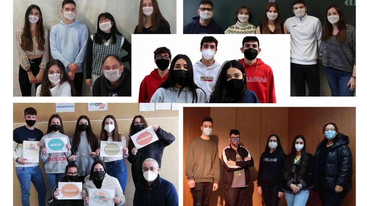 Estudiants dels debats de la Xarxa Vives