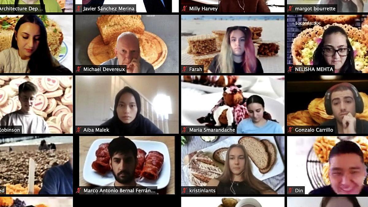 Captura de pantalla de la sesión internacional de modelado de alimentos en tres dimensiones.   INFORMACIÓN