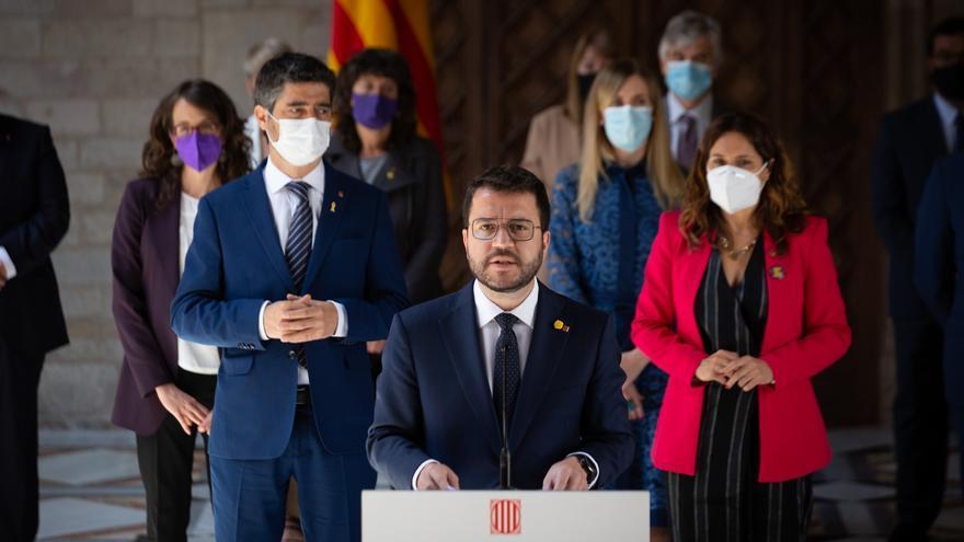 """Aragonès pide a su Govern trabajar """"incansablemente"""" para la resolución del conflicto catalán"""